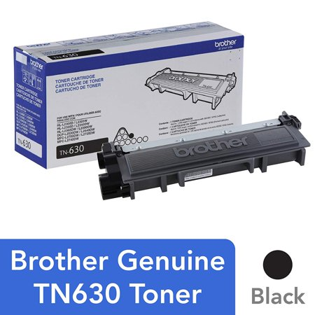 Brother Genuine Standard Yield Toner Cartridge, TN630, Replacement Black Toner, Page Yield Up To 1,200 Pages Standard Yield Photo