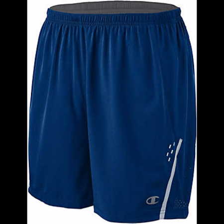 Champion Men's Marathon Shorts with Liner, Awesome Blue/Silverstone - L
