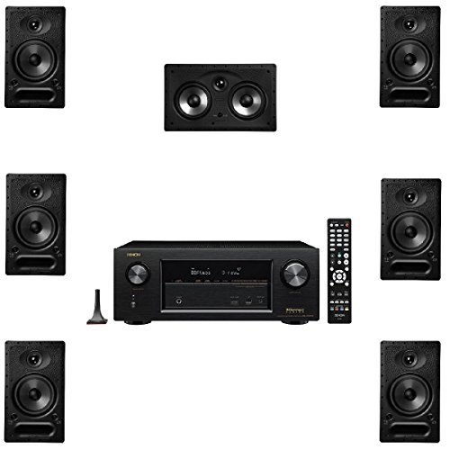 Polk Audio 65-RT 7 Channel Speaker Package and Denon AVR-X2300W AV Receiver by Polk Audio