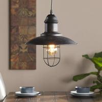 Southern Enterprises Tradin Industrial Cage Pendant Lamp, Rustic black