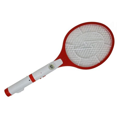 Insect Swatter (2018 Latest New Technology 2 in 1 Electric Bug Zapper LED Flashlight No Batteries Needed Rechargeable Racket Fly Swatter Mosquito Fly Bees Killer Insect Racket)