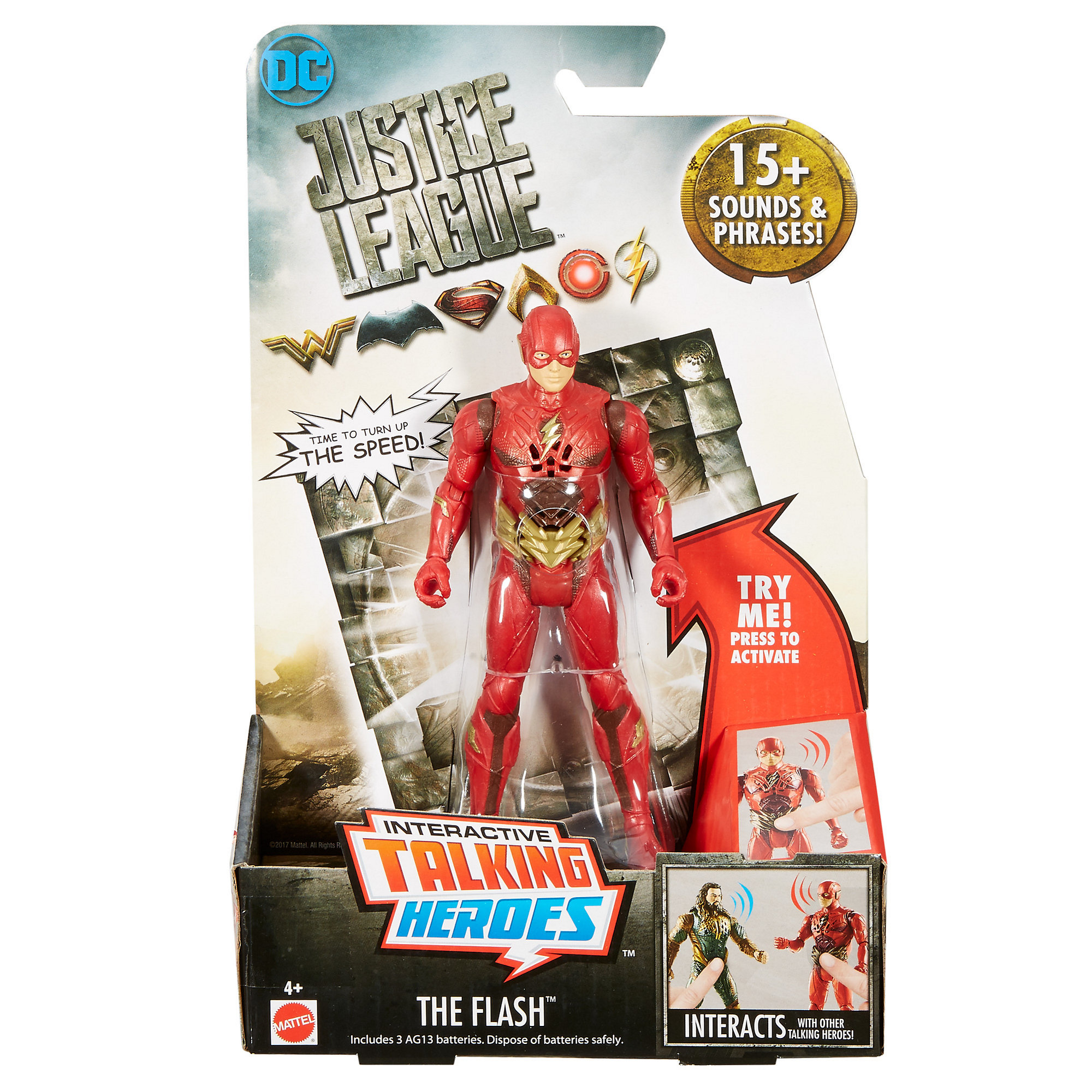 "DC Justice League Talking Heroes The Flash 6"" Figure"