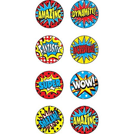 Superhero Mini Stickers (5642)Acid-free By Teacher Created Resources - Super Hero Stickers