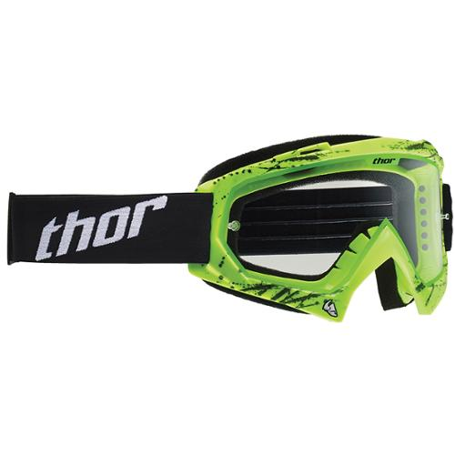 Thor Enemy Printed MX Motocross Goggles Splatter Green