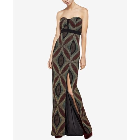 Metallic Knit Dress - Women's Metallic-Knit Sweetheart Maxi Dress 0