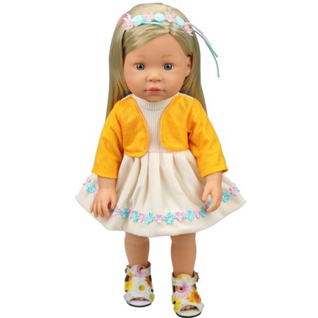 ef8f7f7ee DIY Doll Clothes Dress for 16 inch Doll Baby Kids Gifts Skirt Party ...
