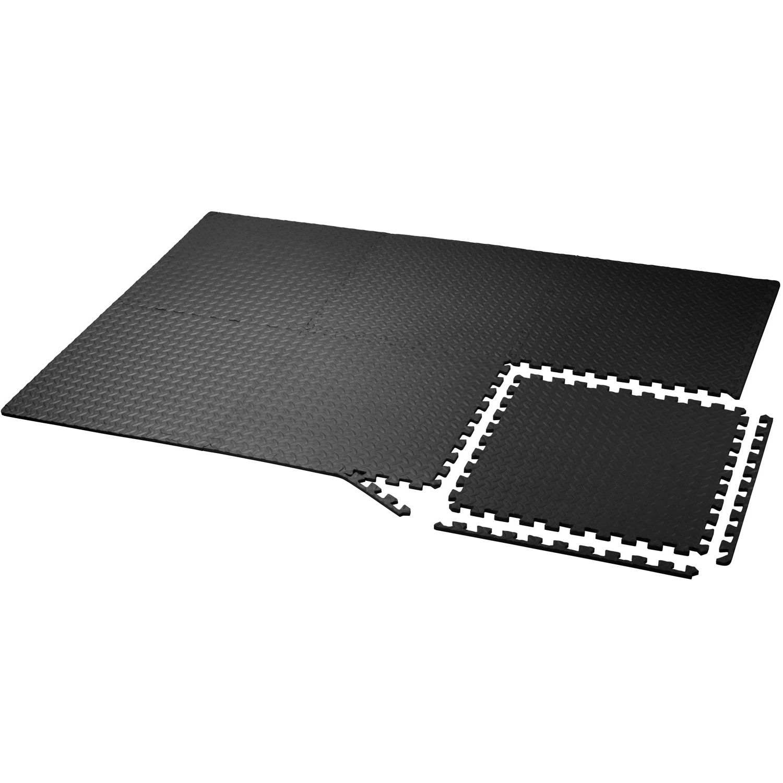 Yes4All Interlocking Exercise Foam Mats Black or Gray 24 /& 120 SqFt