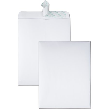 Quality Park Redi Strip Catalog Envelope, 10 x 13, White, 100/Box