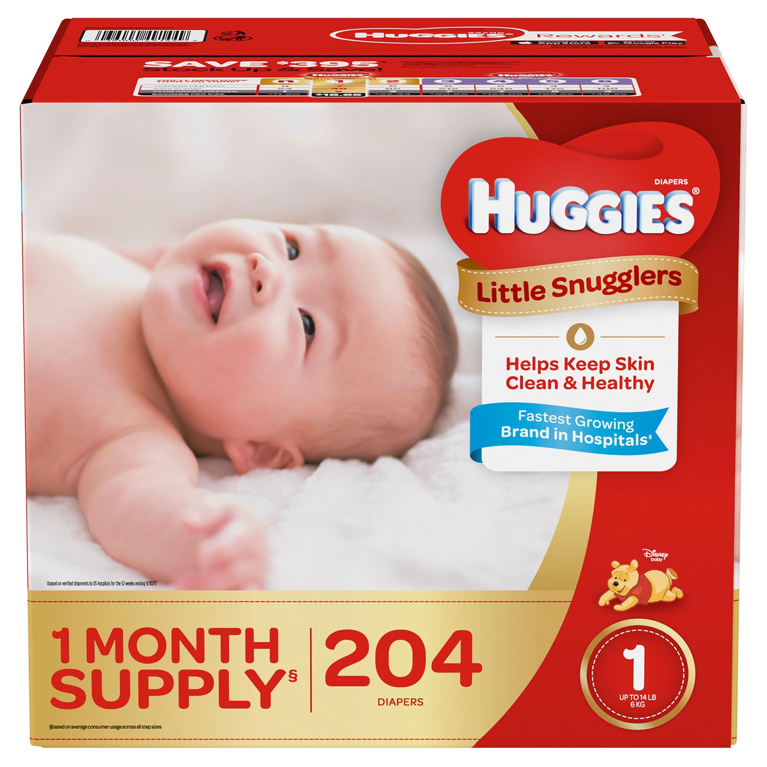 Huggies Little Snugglers Diapers Size 1 -198 ct. by Unbranded