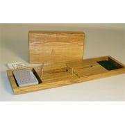 WWI 33555 2 Player Folding Wood Cribbage - Oak