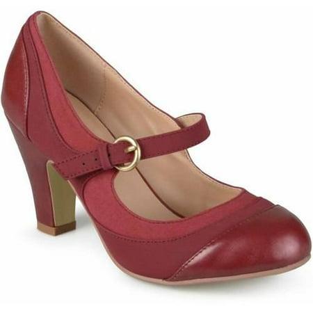 Mary Jane Black Footwear (Brinley Co. Women's Tweed Two-Tone Mary Jane Pumps )