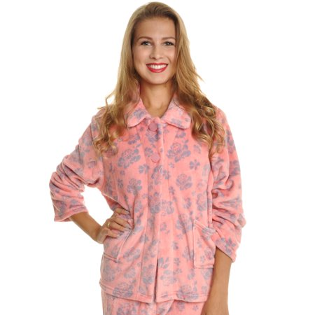 Angelina Mix-and-Match Plush Pajama Bed Jacket (1-Pack)