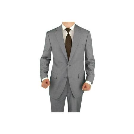 Salvatore Exte Men's Suit Two Button Side Vent Jacket Flat Front -