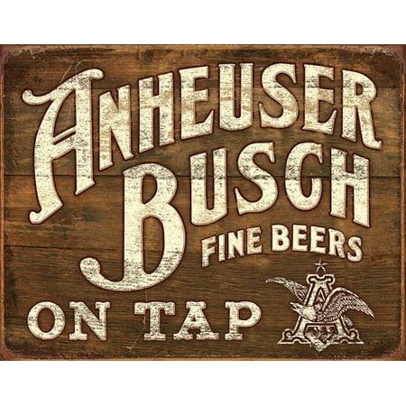 Anheuser- Busch - Fine Beers Tin Sign - 16x12.5 (Anheuser Busch Beer)