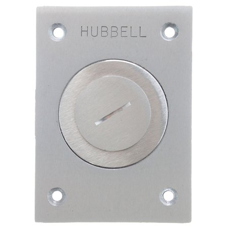 Hubbell Wiring Systems SA2625 Aluminum Round Floor Box Rectangle Combination Cover, 2-1/8