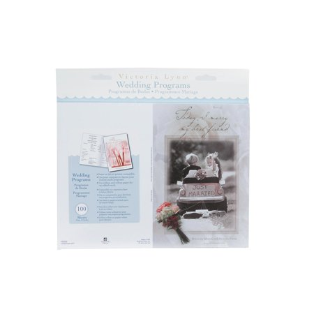 Victoria Lynn Little Boy Girl Wedding Program Kit 100 Programs