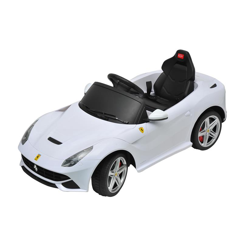 Ferrari F12 Kids 6v Electric Ride On Toy Car w/ Parent Remote Control - White