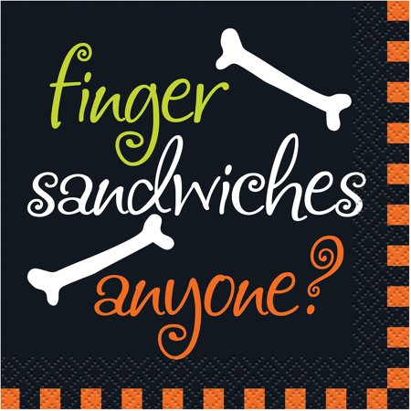 Finger Sandwiches Halloween Beverage Napkins, 16ct