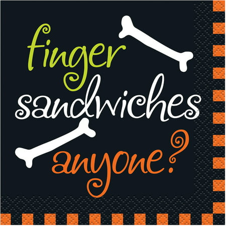 Finger Sandwiches Halloween Beverage Napkins, - Halloween Themed Finger Food