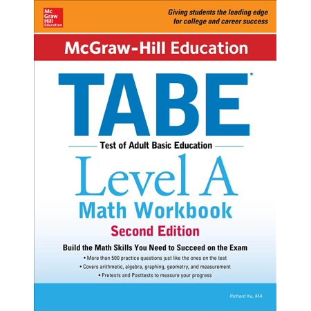 McGraw-Hill Education Tabe Level a Math Workbook Second Edition (Paperback) Mcp Math Level