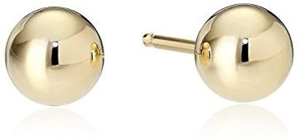 8mm Blue Abalone Shell Stud Earrings For Women Hypoallergenic Surgical Steel