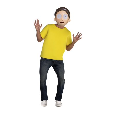 Palamon 6659M Rick & Morty Morty Adult Costume - M 40](Rick & Morty Costume)