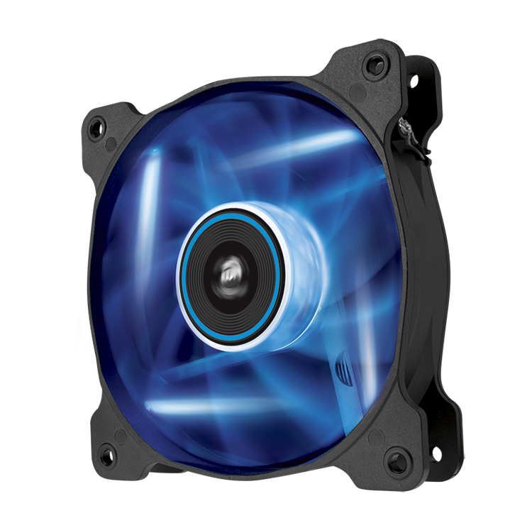 Corsair Air Series AF120 LED Blue Quiet Edition High Airflow 120 mm Fan (Twin Pack)