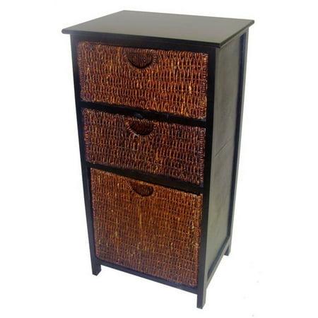 Image of 3-Basket Compact Storage Shelf in Black Finish