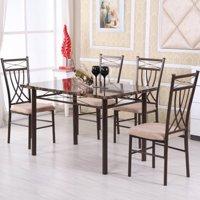 Hodedah Imports 5 Piece Dining Table Set