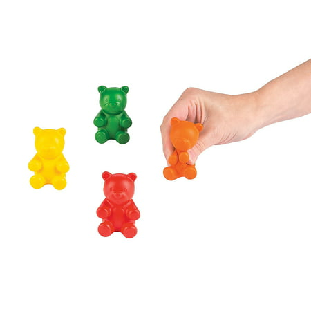 Gummy Bear Toy (Fun Express - Gummy Bear Stress Toy - Toys - Balls - Relaxables - 12)