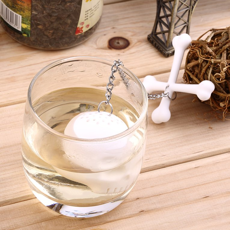 Silicone Skull Teapot Infuser Herbal Diffuser Filter Bag Tea Leaf Strainer