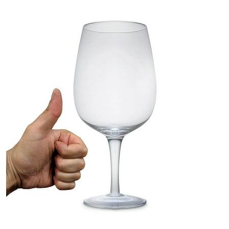 Jumbo Giant Wine Glass - Unique Extra Large Size 750 ml Bar Drinking Glass