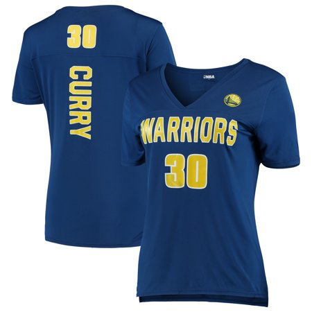 Women's 5th & Ocean by New Era Stephen Curry RoyalGolden State Warriors Name and Number