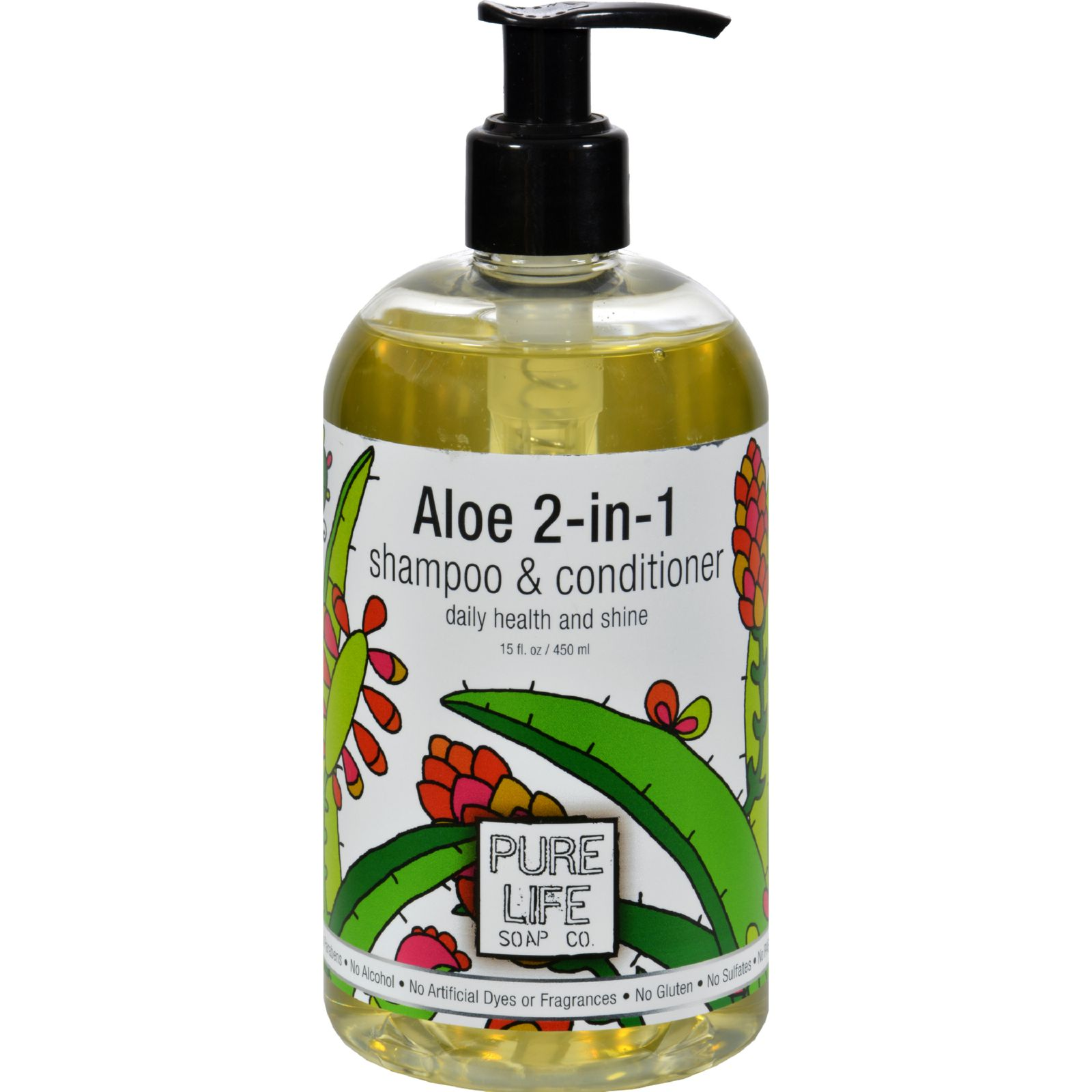 Pure Life Soap Shampoo and Conditioner - Aloe 2-in-1 - 15 oz