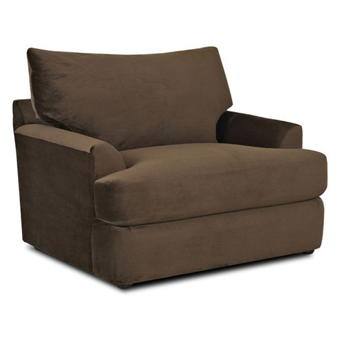 Klaussner Findley Chair Challenger Chocolate by Overstock