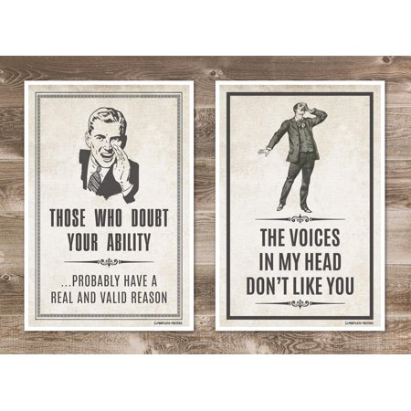 Demotivational Quotes and Sayings Posters - Set of Two 12