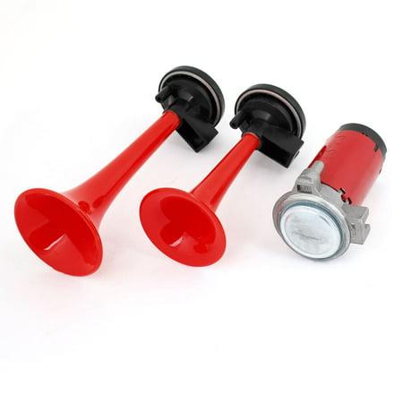 Unique Bargains Automobile Car Train DC 12V Dual Loud Air Horn Spare Part Black Red - image 1 of 1