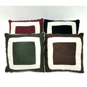 """MicroSuede Solid Square 18""""x18"""" Square Pillow Insert- Multiple Colors"""