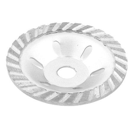 Unique Bargains 100mm x 16mm Silver Tone Diamond Coated Concave Grinding Wheel Disc