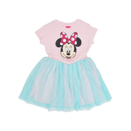 Girls Minnie Mouse Front Tie Tutu Dress Pink