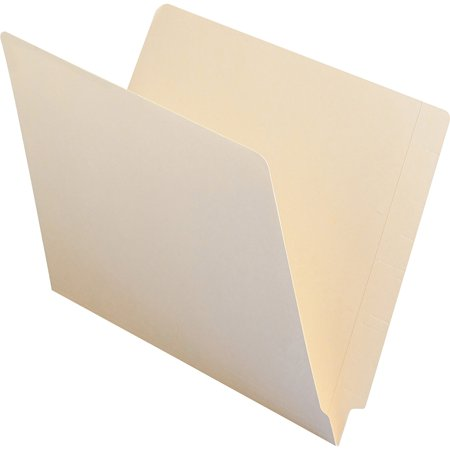 Smead Reinforced End Tab File Folder, Manila, Letter Size, 100/Box