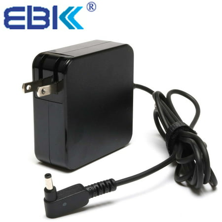EBK AC Charger Power cord Adapter Portable Wall Charger Laptop Charger For  Asus Q504U Q553U A553 Q304 Q503 Q324 Q303, Asus Chromebook C200 C202