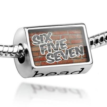Bead 657 Huntington Beach, CA brick Charm Fits All European Bracelets ()