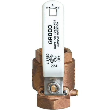 Groco Bronze Thru Hull (Groco IBV Bronze Full-Flow In-Line Ball Valve)