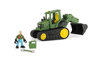 Ertl John Deere Gear Force Tracked Tractor With Backhoe by n/a
