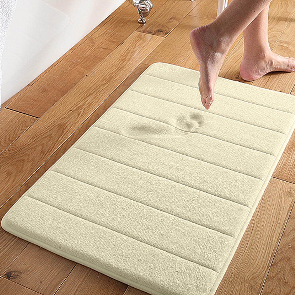 "Super Soft and Absorbent Non Slip Memory Foam Bath Mat 24"" x 17"""