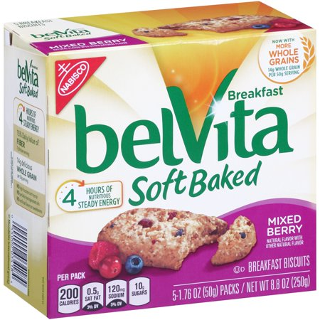 Nabisco Belvita Breakfast Soft Baked Breakfast Biscuits Mixed Berry   5 Ct