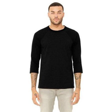 - Cottonex C0245A140LRG 3 by 4 Sleeve Baseball Tee Shirt for Adult, Natural & Navy - Large