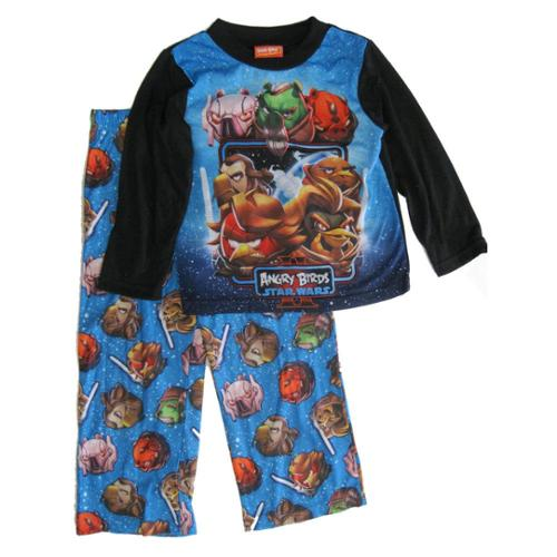 Angry Birds Boys Black Blue Star Wars Character 2 Pc Sleepwear Set 8-10