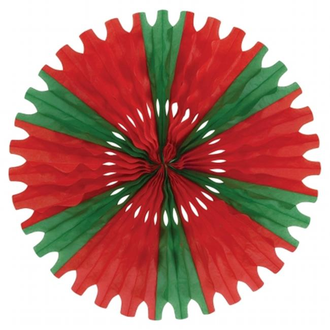 Beistle Company 55293-RG Tissue Fan - Red & Green